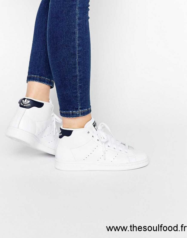 code promo 09321 ffe56 Adidas Originals - Stan Smith - Baskets Mi-hautes - Blanc Et ...