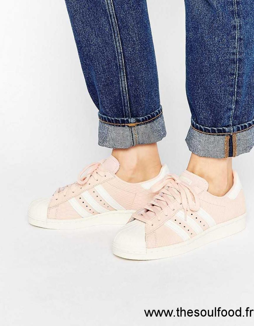 Adidas Originals - Superstar - Baskets 80's - Pêche Femme Pêche Chaussures | Rose France YK28003910