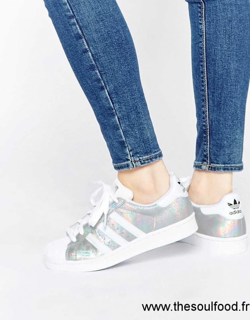 Holographique Blanc Originals Effet Baskets Superstar Adidas qwI1PFdPX