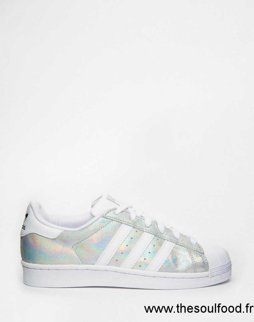 meilleur service 1ec33 88b70 ebay adidas superstar blanc and holographic 5f23e 77d61