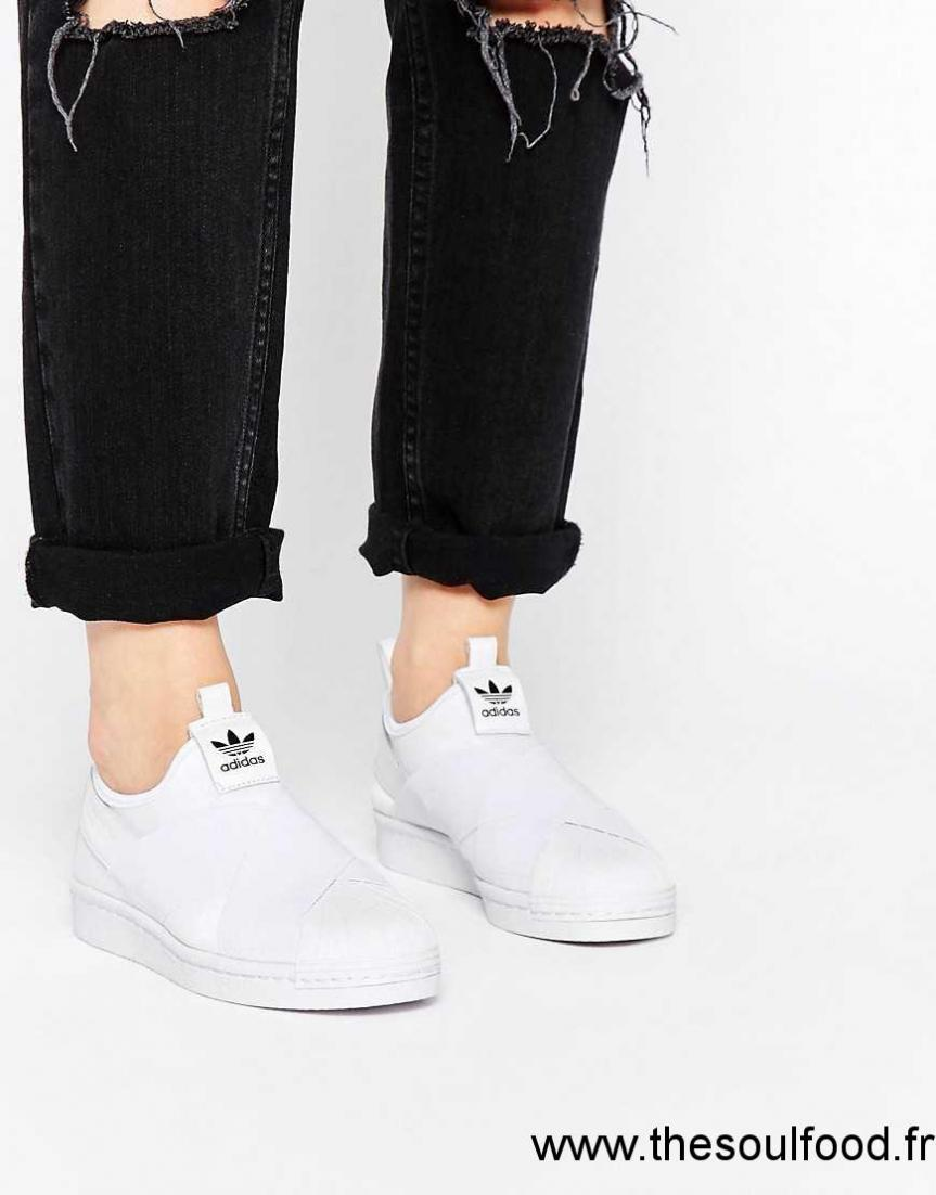 Sans Lacets Baskets Originals Superstar Blanc Femme Adidas QxoreWdCEB
