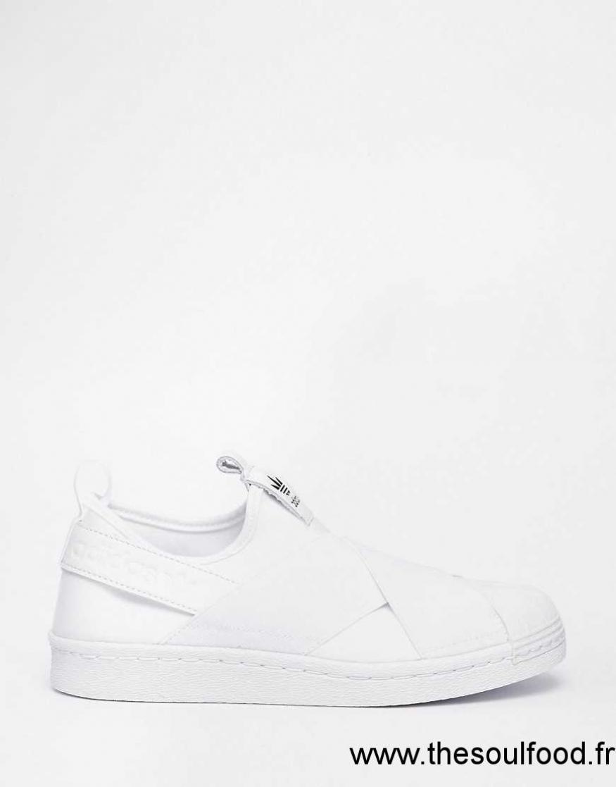 design de qualité 2cdae 3afea Baskets Lacets Blanc Femme Adidas Originals Sans Superstar ...