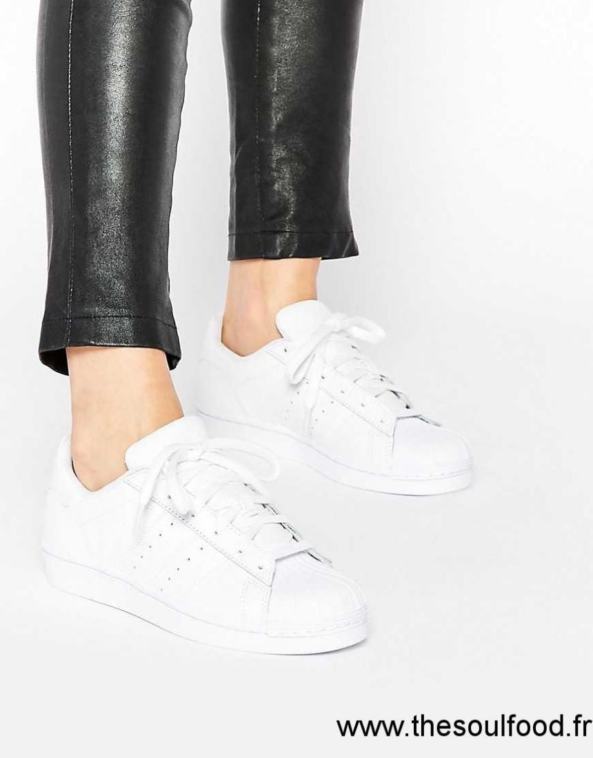 6b32d012204 Adidas Originals - Superstar Foundation - Baskets - Blanc Femme Blanc  Chaussures