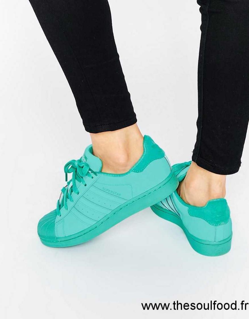 Superstar Adidas Colour Originals Baskets Vert Super Femme 0Ok8wPn