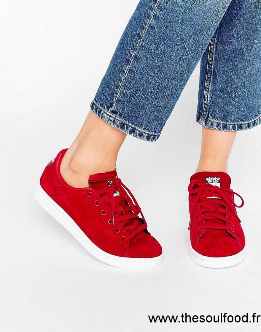 chaussures adidas femme rouge