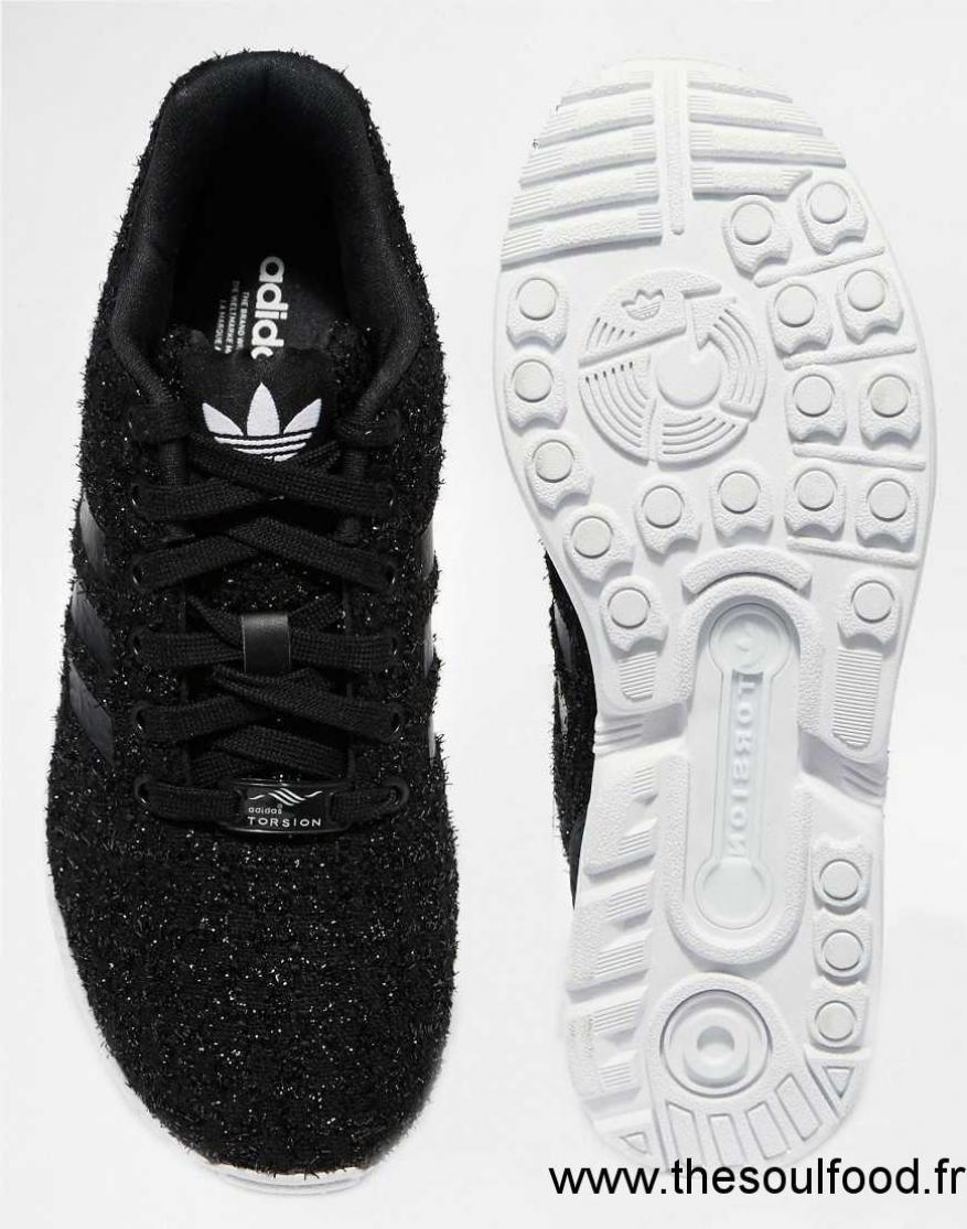 En Originals Noir K3lctf1j Zx Tissu Flux Baskets Femme Adidas Luxueux qpMGVUzS