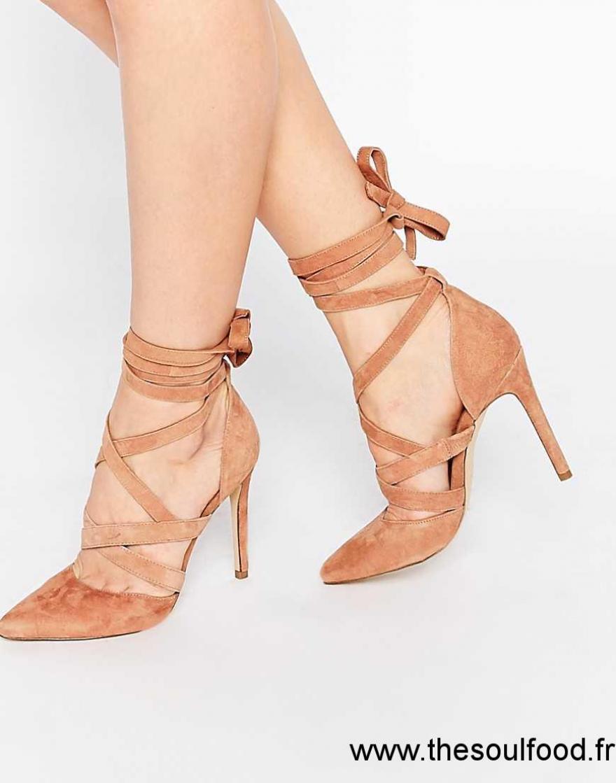 d1b529e01af Aldo - Unelilian - Chaussures En Daim Avec Talons Et Brides - Camel Femme  Fauve Chaussures