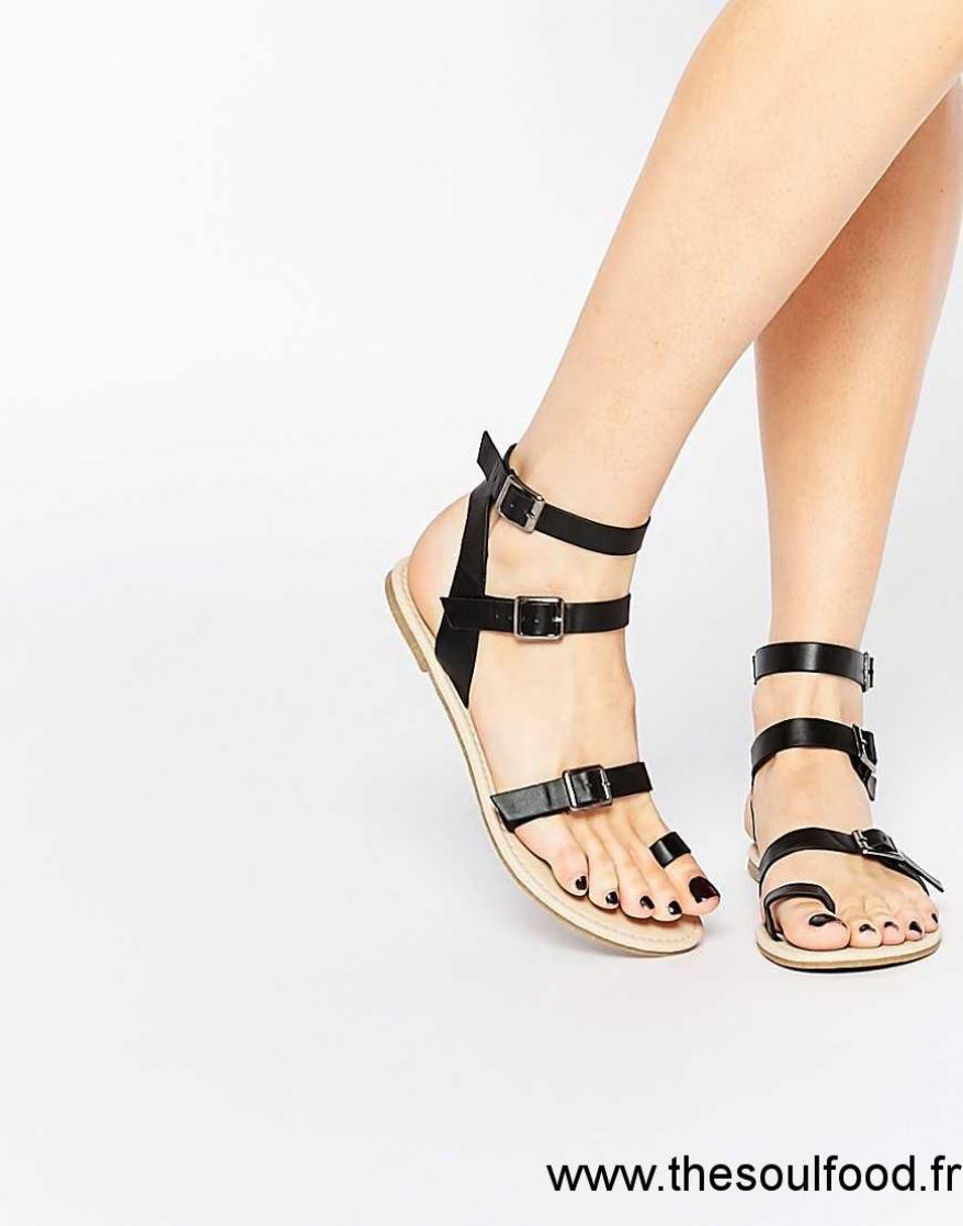 457d2bf9c3e13c Asos - Fantasia - Spartiates Femme Noir Chaussures | Asos France TI1300839
