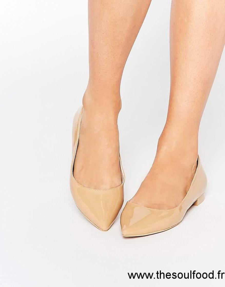 Asos - Lost - Ballerines Pointues Femme Nude Chaussures | Asos France ER3300932