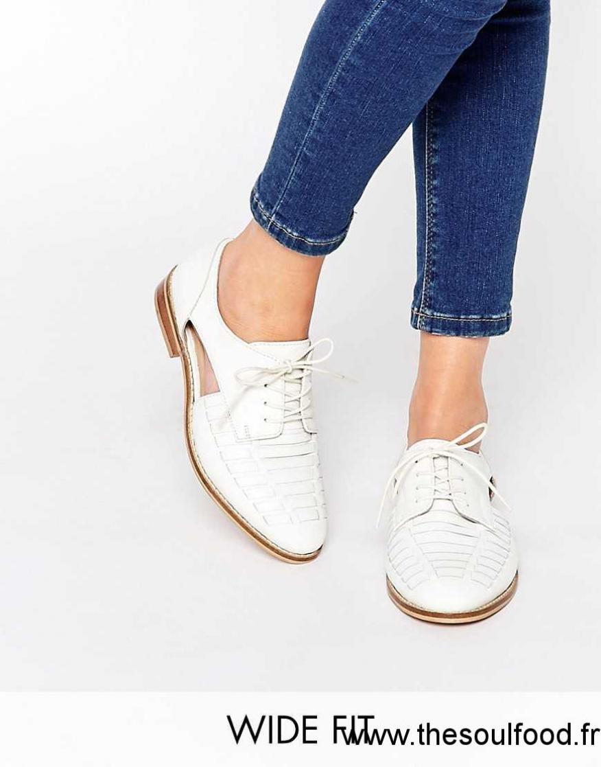 Asos Chaussures Richelieu En Cuir Blanc Homme Blanc
