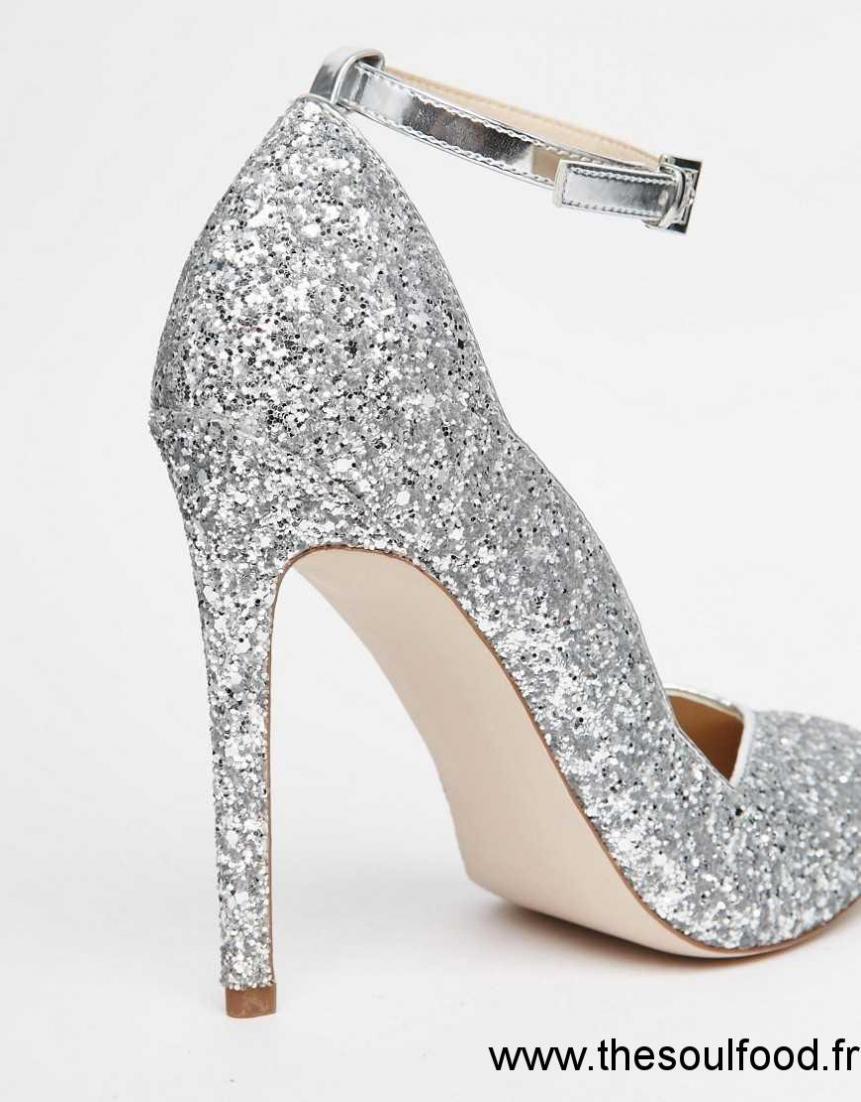 deb9b3266 chaussure talon argente,Chaussures Femmes Chaussure De Mariee Sparkly