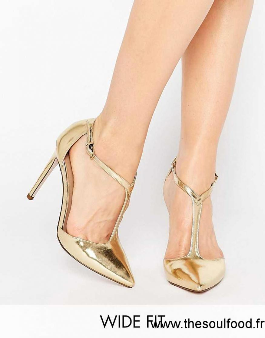4eebf834ad559b Asos - Popular - Chaussures Pointues Pointure Large À Talons Hauts Femme  Champagne Chaussures | Asos France CQ03001006