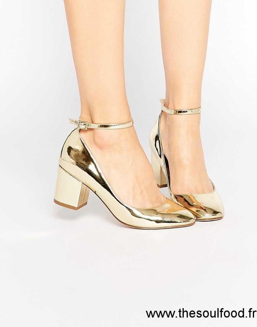 Femme À Doré ChaussuresAsos Showbiz Chaussures Asos Talons c5Lq3AR4j