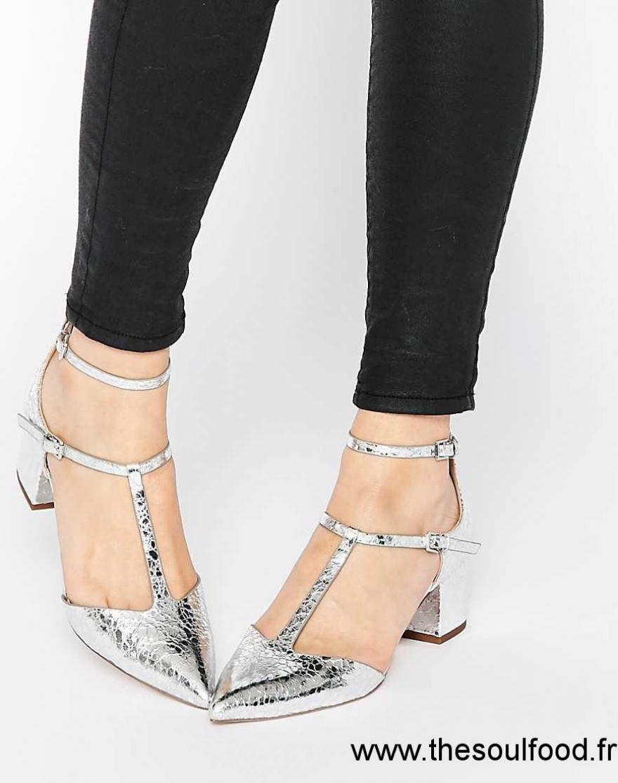 Asos Switch It On Chaussures Pointues Femme Argenté