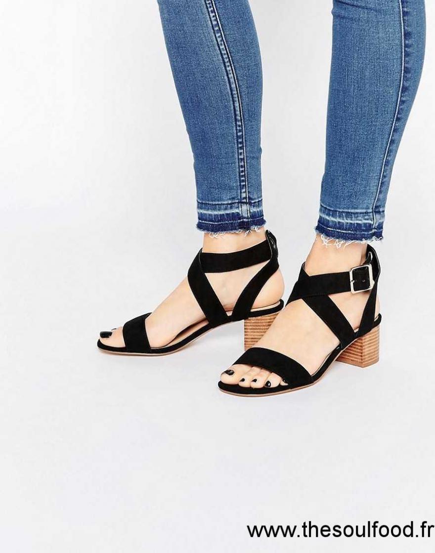 Mi Asos Hauts Talons Time À Tea Chaussures Femme Sandales Noir 4R35jqAL