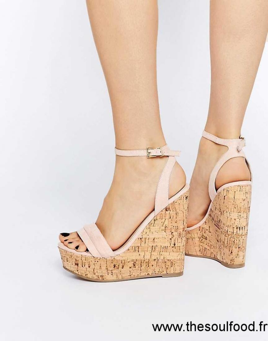 833b7ee24f9ea Asos - Time Flies - Chaussures Compensées En Deux Parties Femme Nude  Chaussures   Asos France