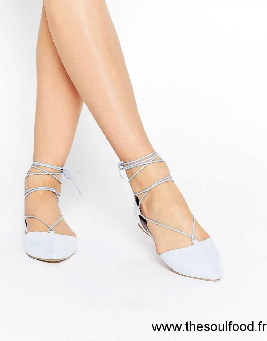 2160848b41 Call It Spring - Cinnabar - Chaussures Plates À Lacets Style Ghillies - Bleu  Clair Femme