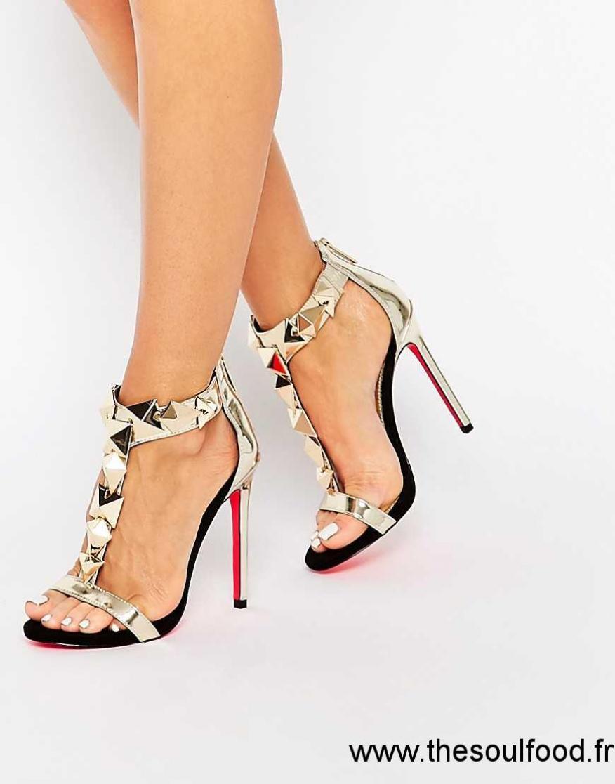 16c18d23b2b47 chaussure a talon dore