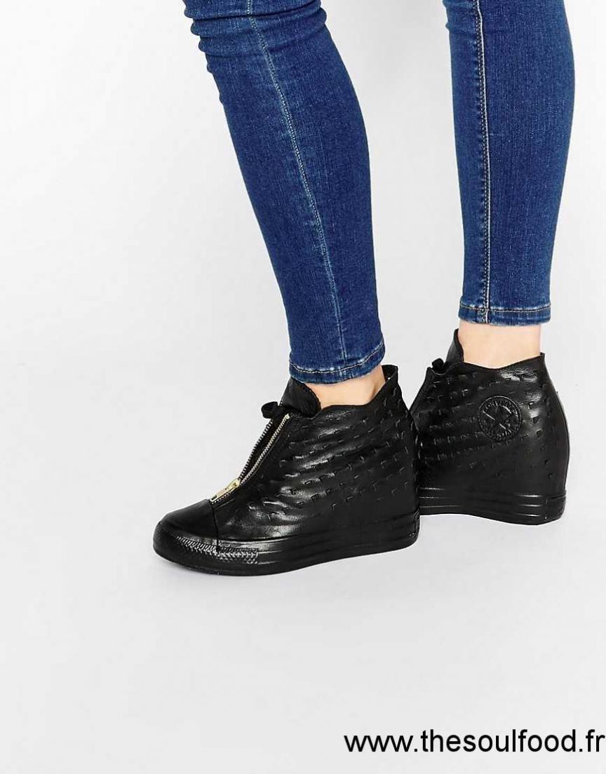 c4dc0b87a1e2c Converse - Chuck Taylor All Star Lux Shroud - Baskets Montantes En Cuir Femme  Noir Chaussures