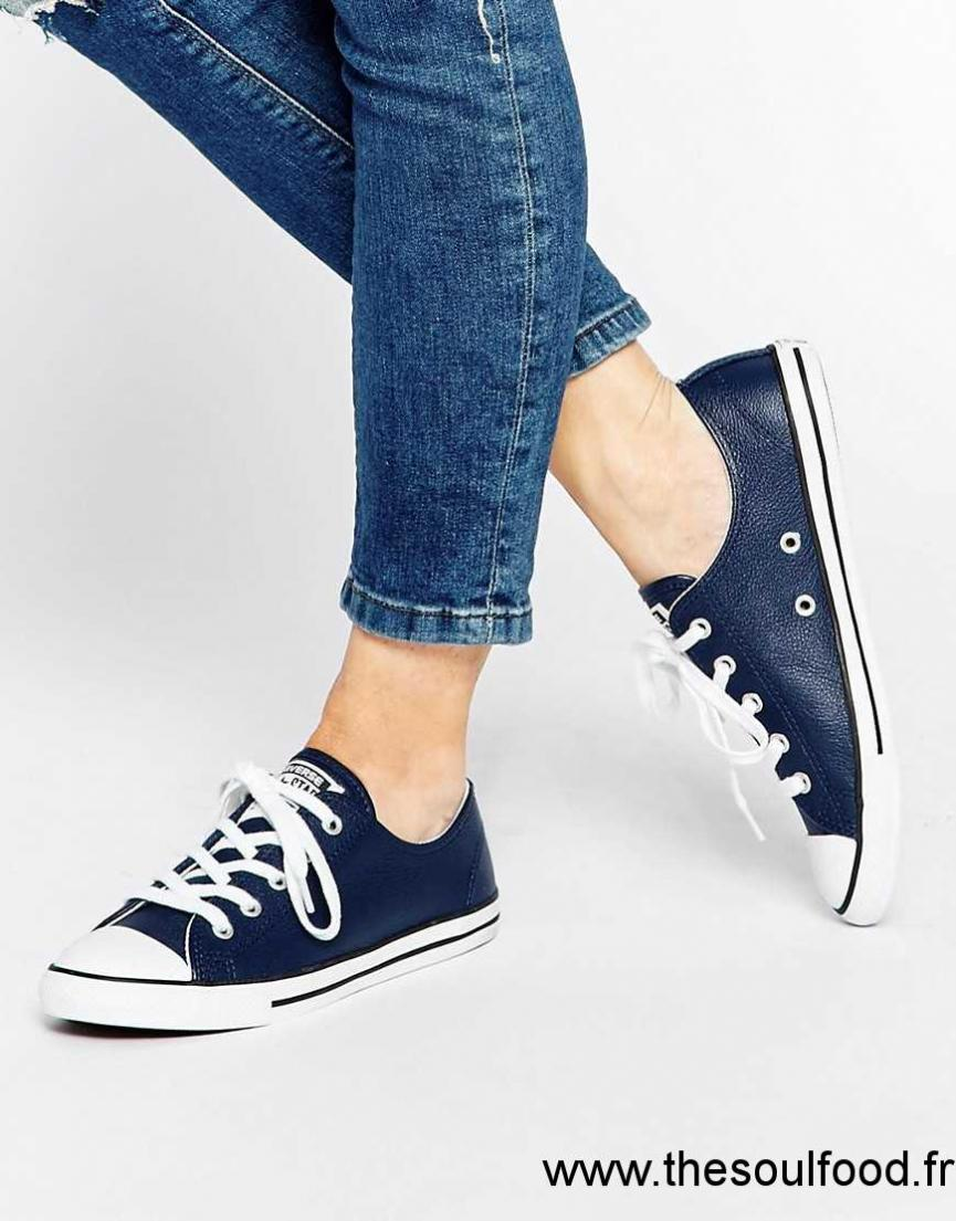 converse dainty baskets basses bleu marine femme bleu marine nocturne chaussures. Black Bedroom Furniture Sets. Home Design Ideas