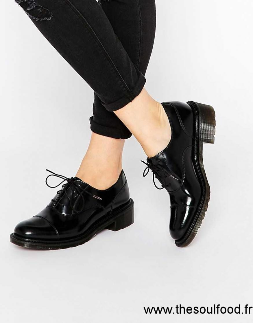 Chaussure Oxford Noir Femme
