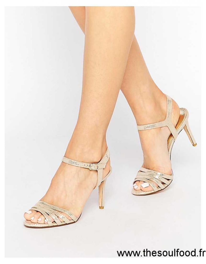 22710650b175a0 Dune - Maci - Sandales À Lanières - Métallisé Doré Femme Métallisé Doré  Chaussures   Dune France UE03002032