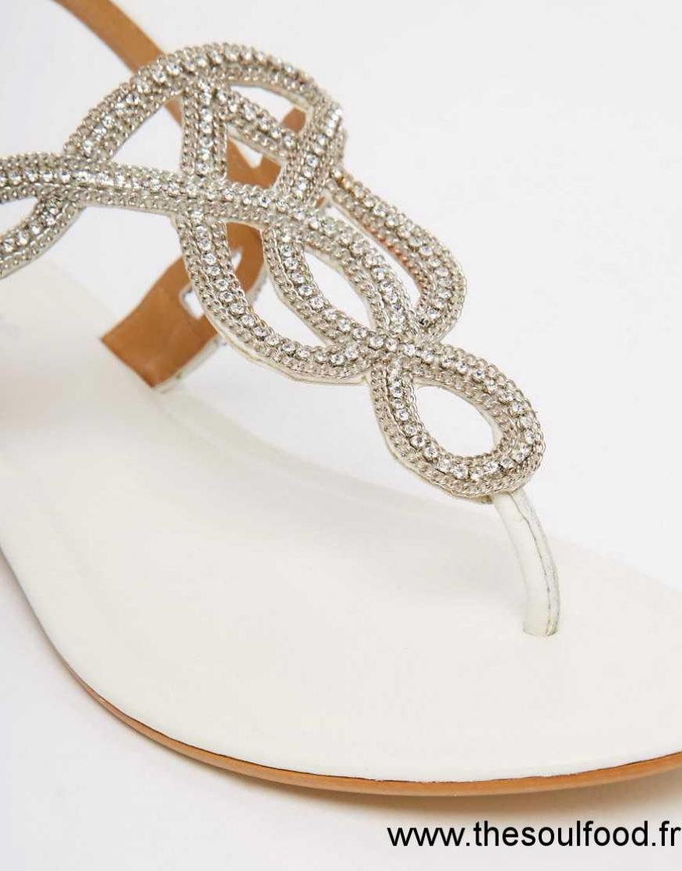 860217b17d39 Dune - Sandales En Cuir À Ornements - Argenté Femme Cuir Blanc Chaussures    Dune France HZ39002028