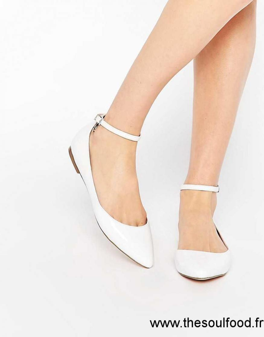 Chaussures à bout pointu blanches femme 6NK21