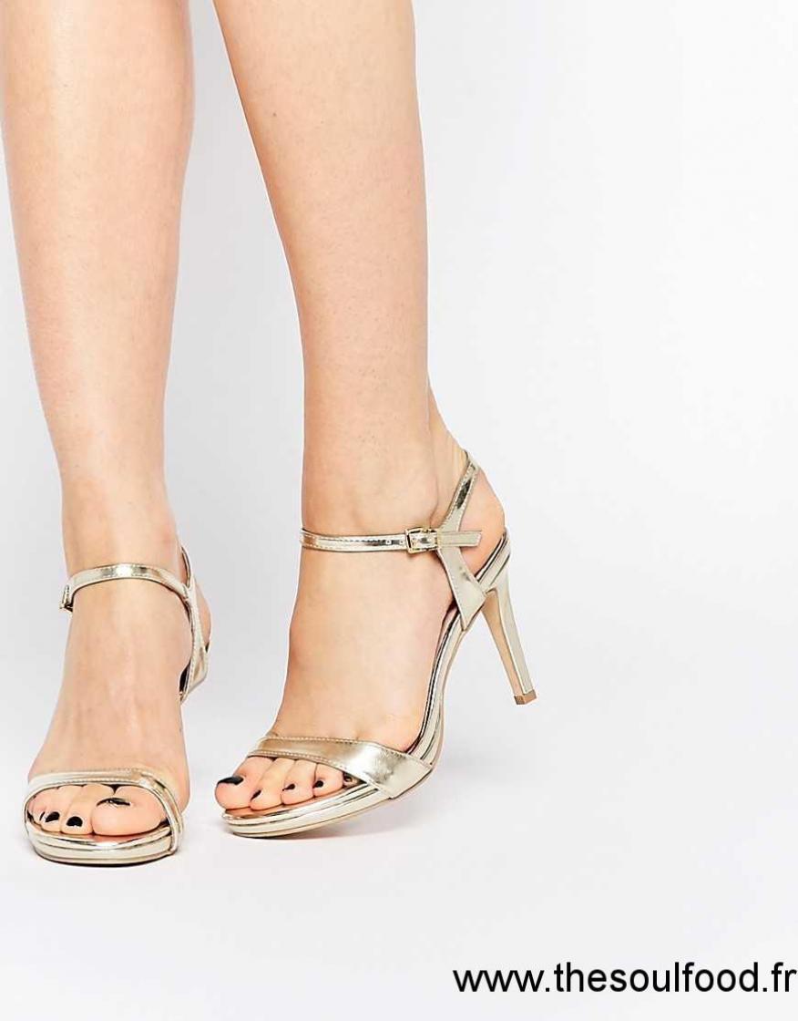 5192296867e670 Faith - Libertine - Sandales Minimalistes À Talon Moyen - Doré Femme Doré  Chaussures | Faith France KA75002107