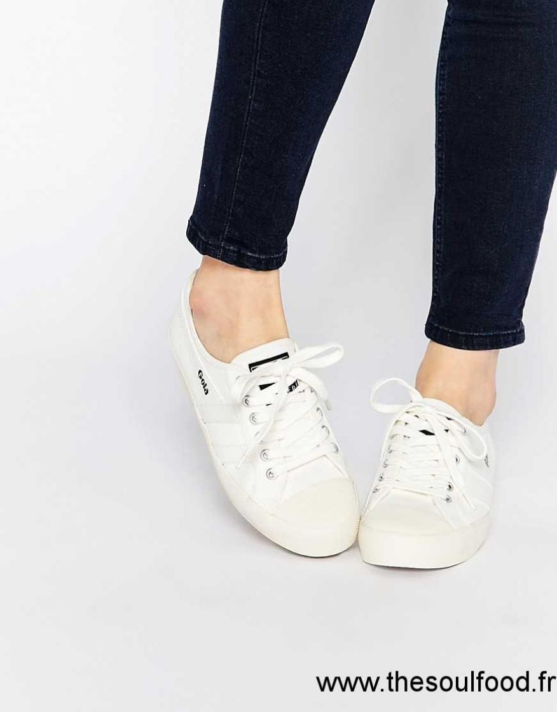 Gola - Coaster Cla174 - Baskets - Blanc Cassé Femme Blanc Chaussures   Gola  France YI35002279 09ece7a29e71