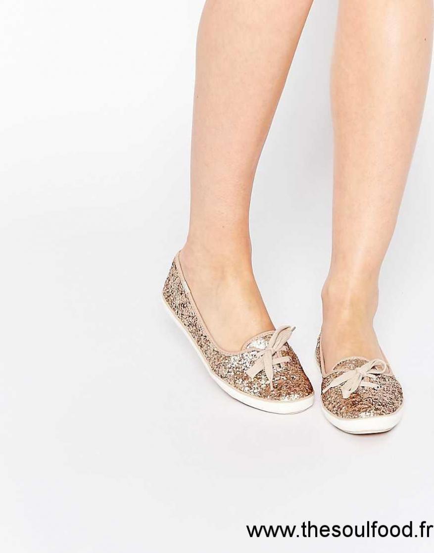 Keds Eclat Teacup Chaussures Baskets Doré Femme cAq34R5jL