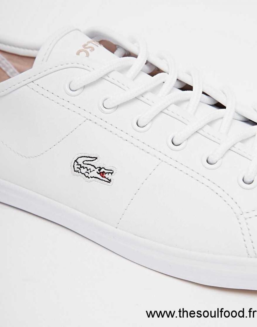 0cc29cda70 Cuir En Femme Blanc Lacoste Tennis Ziane Chaussures qwCHCFR ...