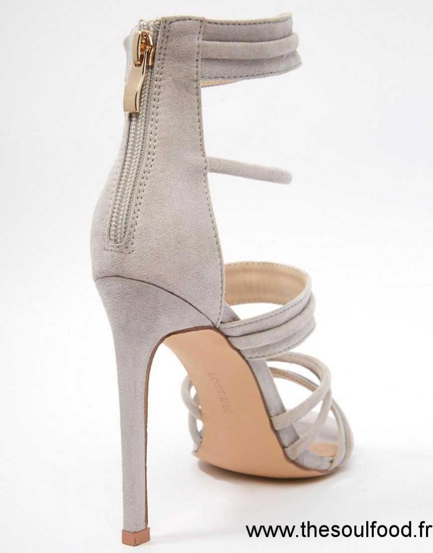 Pieds Grises Femme Hauts Gris Chaussures Talons Talons nu IYeD9WHE2