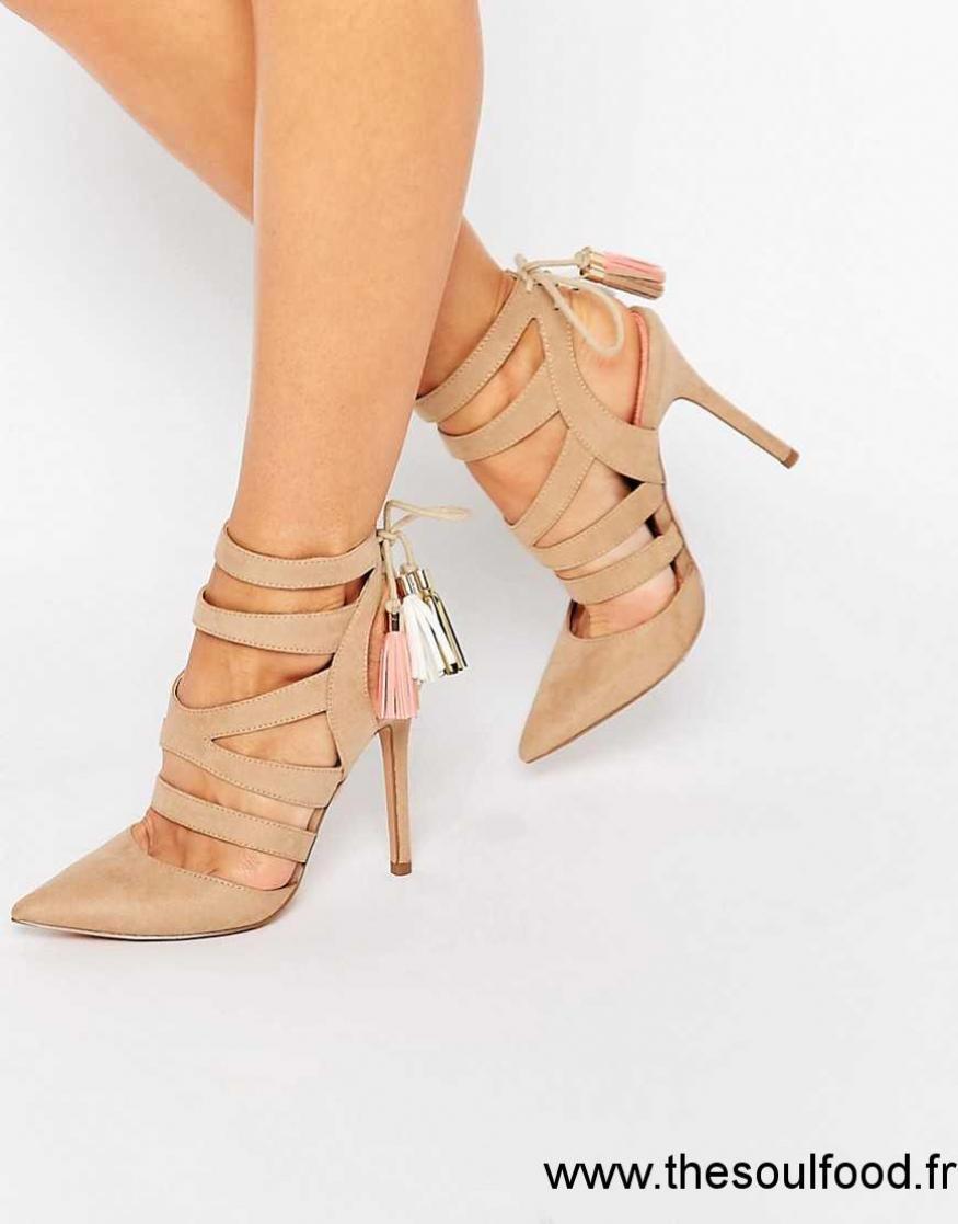 Sandales Ghillie Kg À Talons Miss Femme Alana Fauve Chaussures 0PkX8Own