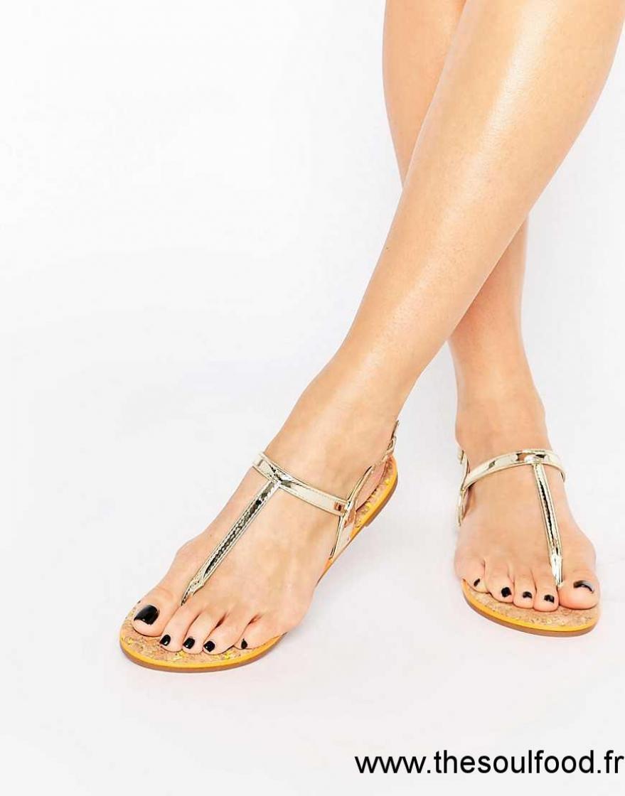 Kg Doré Miss Chaussures Riva Plates Sandales Femme N8XOkwn0P