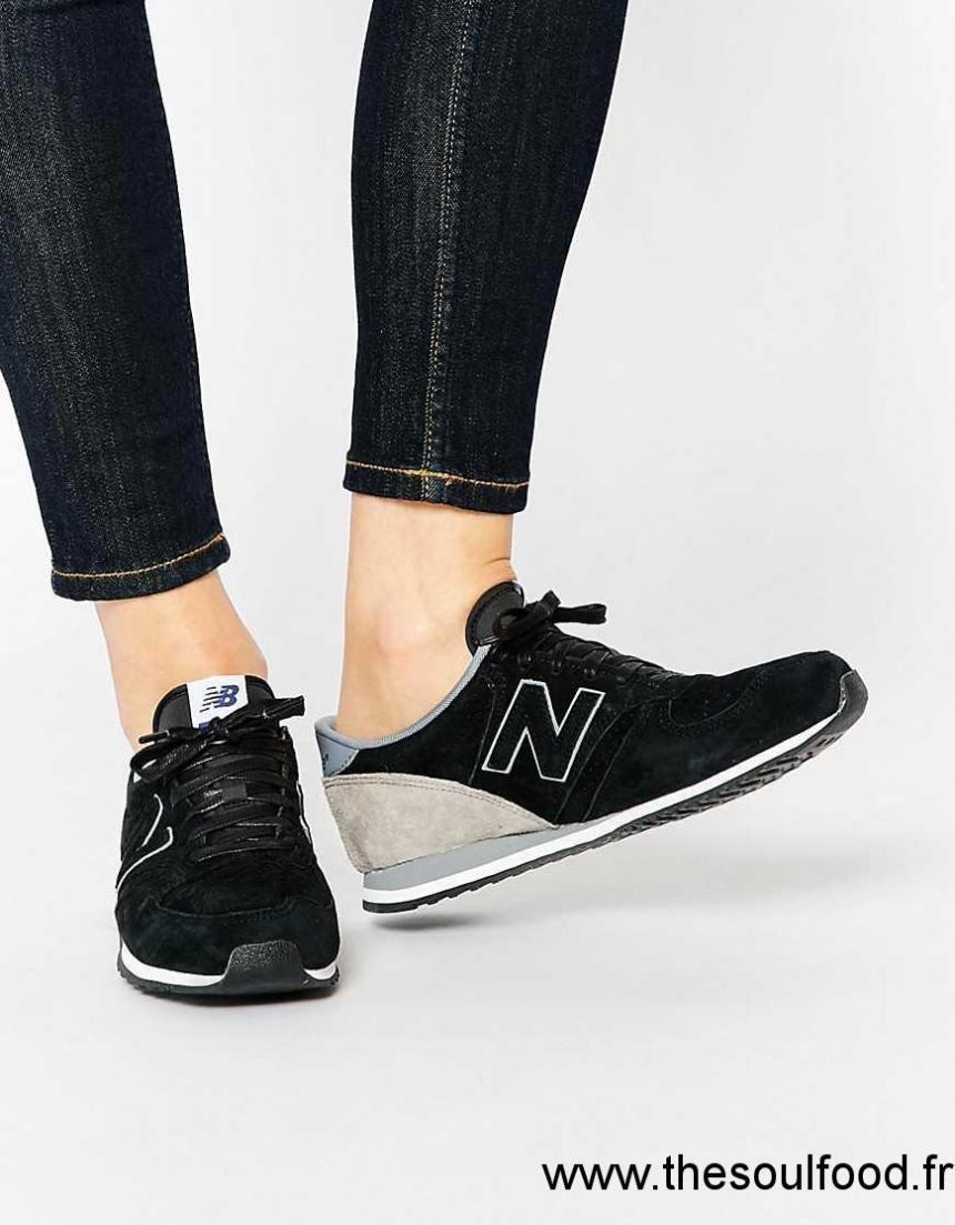 basket new balance femme noir cuir