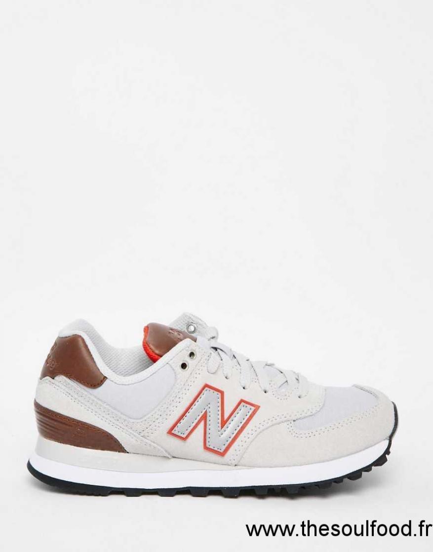 New Balance 574 Noir Et Fauve