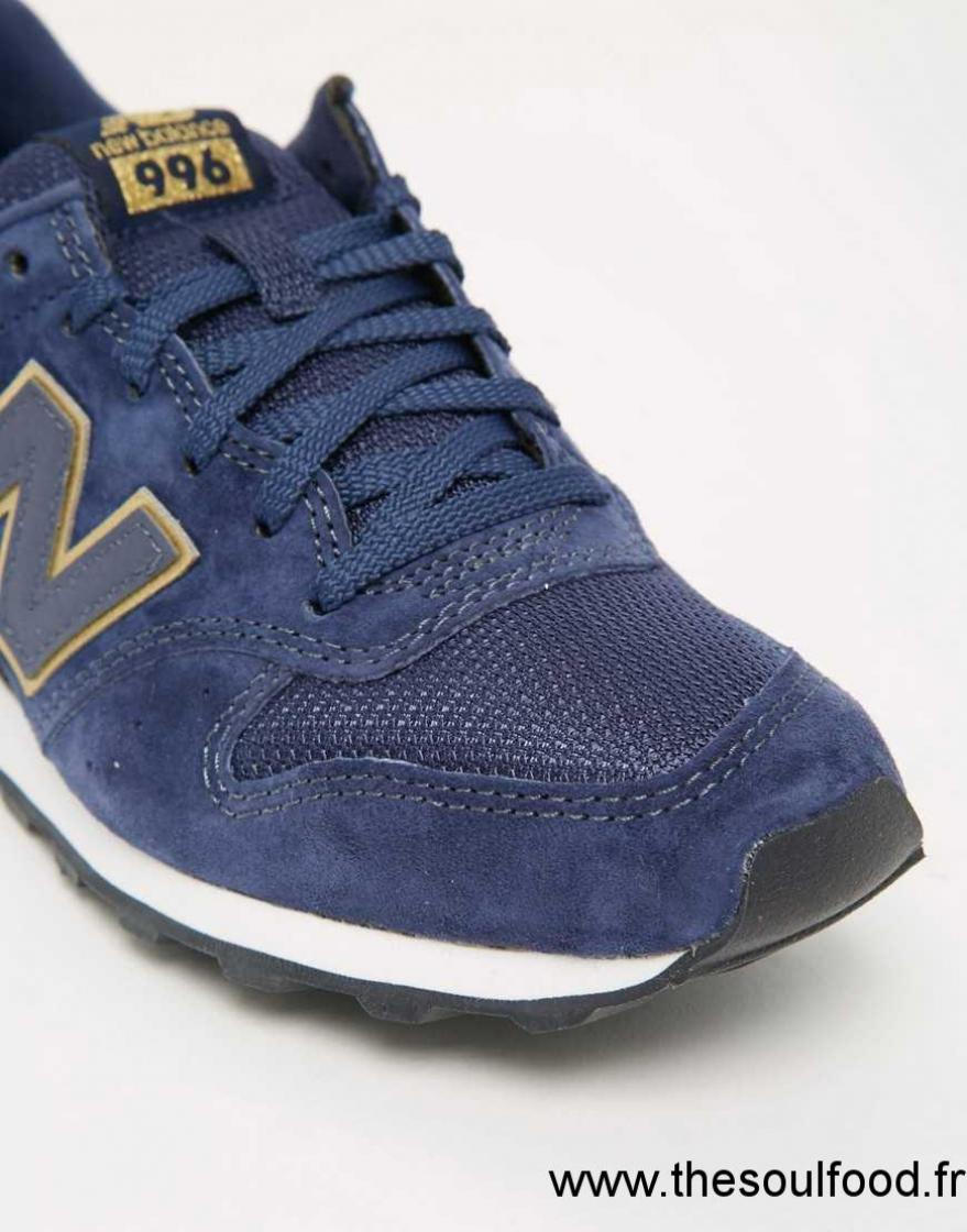New Balance Wr996 Bleu Marine Et Or