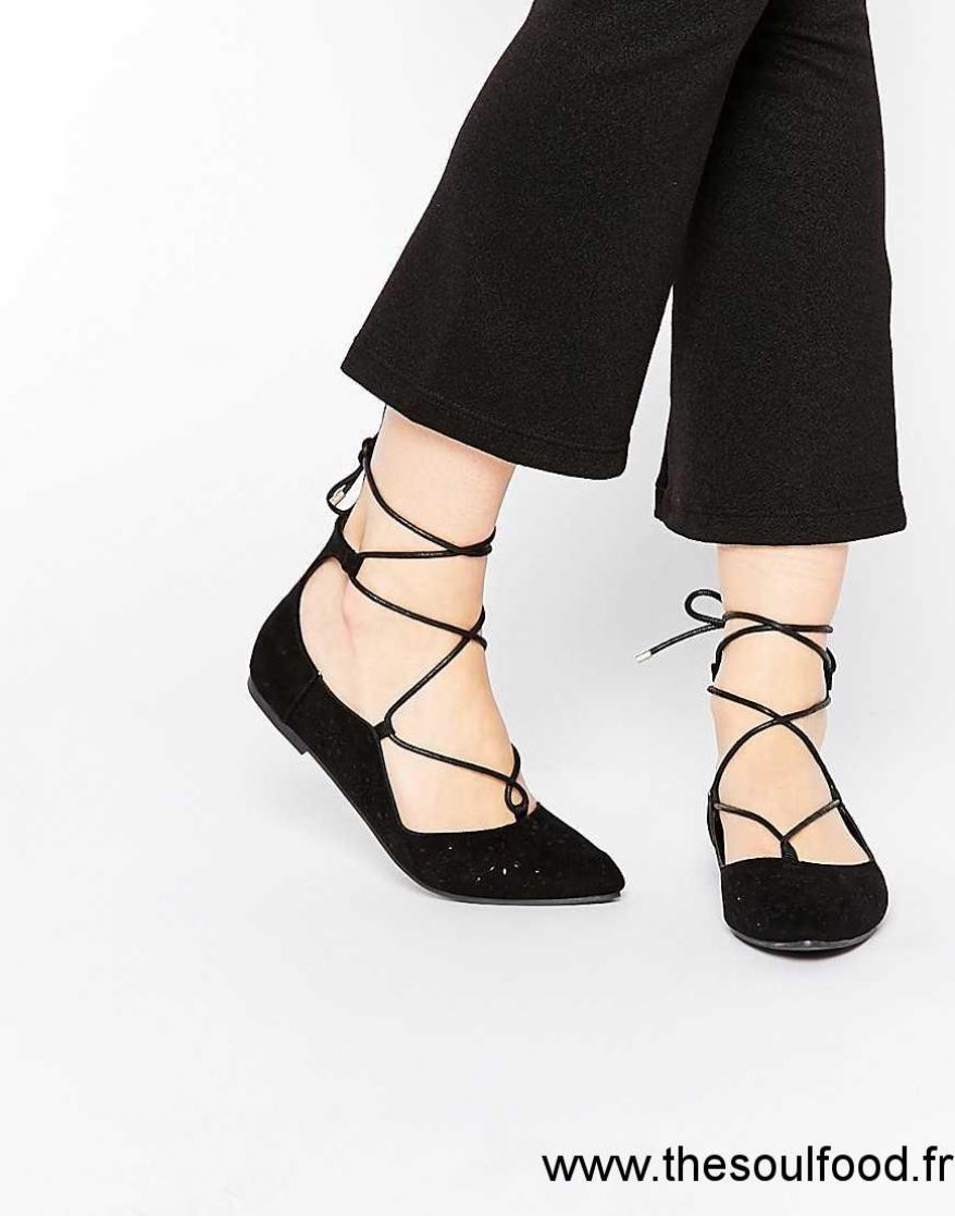 355d0051b2a3 Chaussures ballerines lacets ballerine avec petit talon pas cher ...