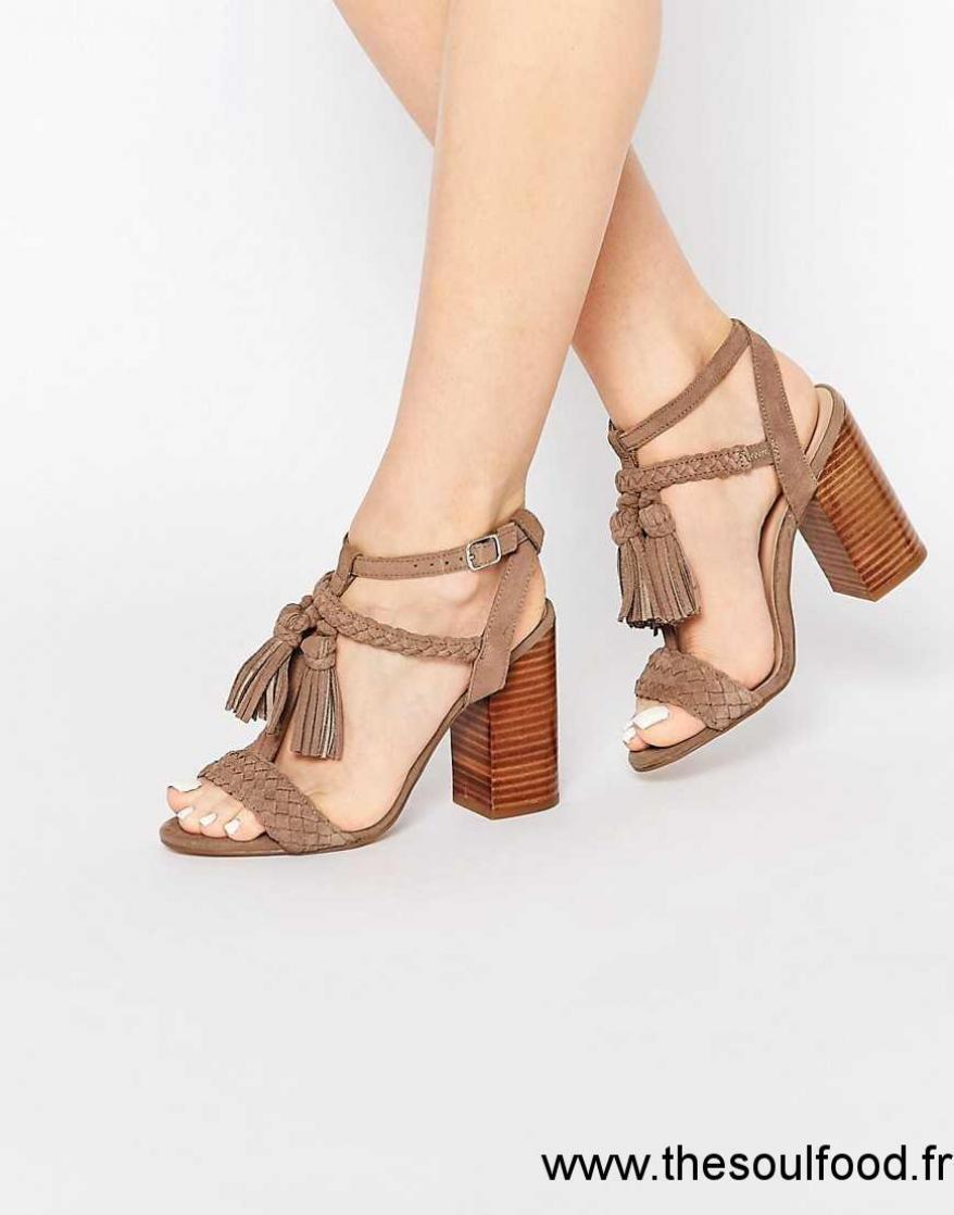 eb456c421 New Look - Sandales En Daim À Talons Femme Marron Chaussures | New ...