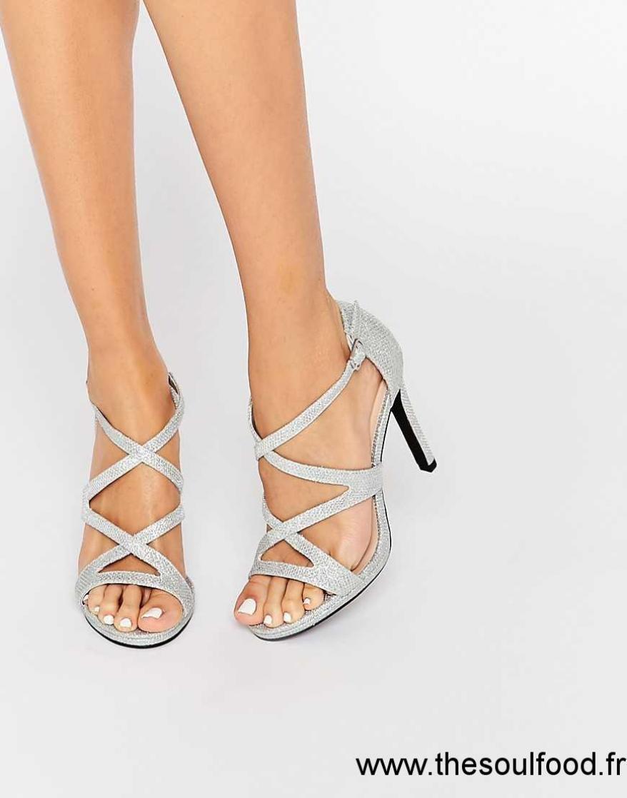 2924b73c7 asos chaussure argent,Argent Craquele Femme Asos Priceless ...