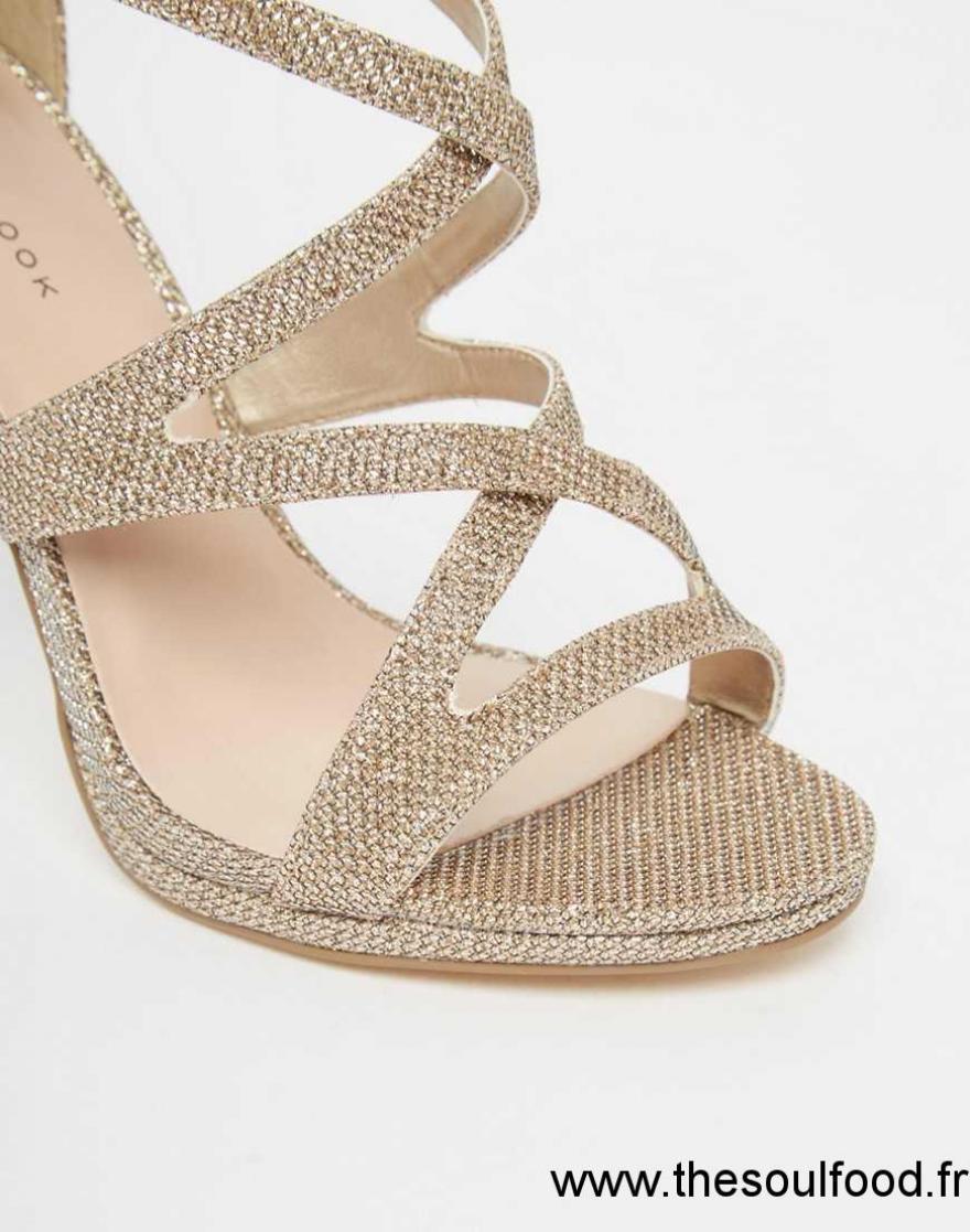 New Look - Sandales À Talons - Éclat Doré Femme Doré Chaussures   New Look  France VJ71003055 47e5ab1d5b9a