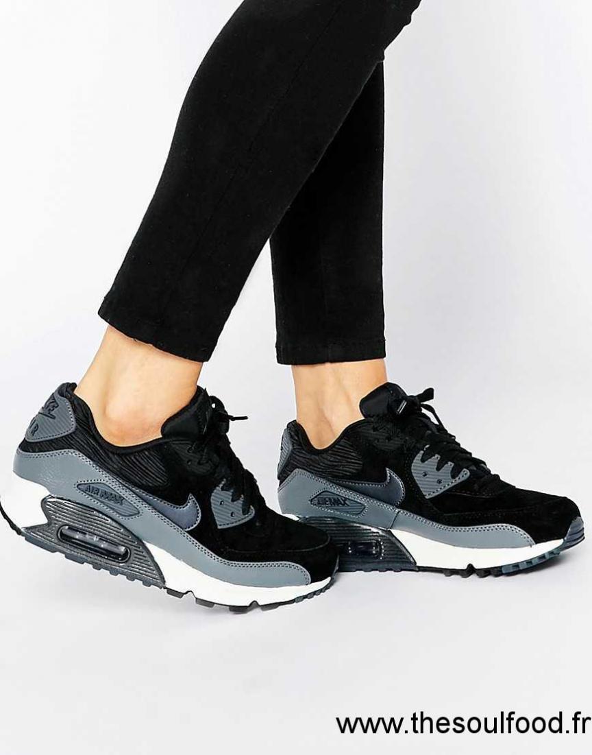 mode designer 699ef 63ee7 Nike - Air Max 90 - Baskets - Noir Et Gris Femme Noir ...