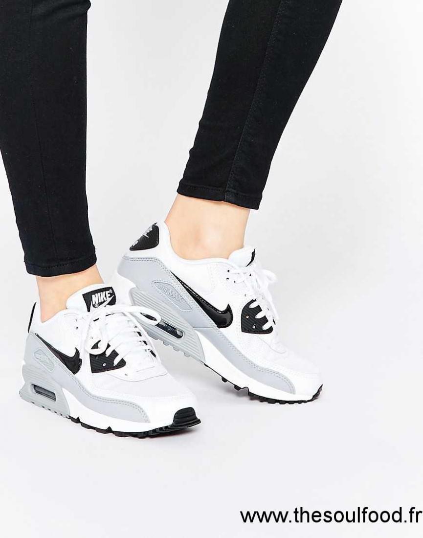 énorme réduction ed280 a9064 Nike - Air Max 90 Essential - Baskets - Gris Loup Femme Gris ...