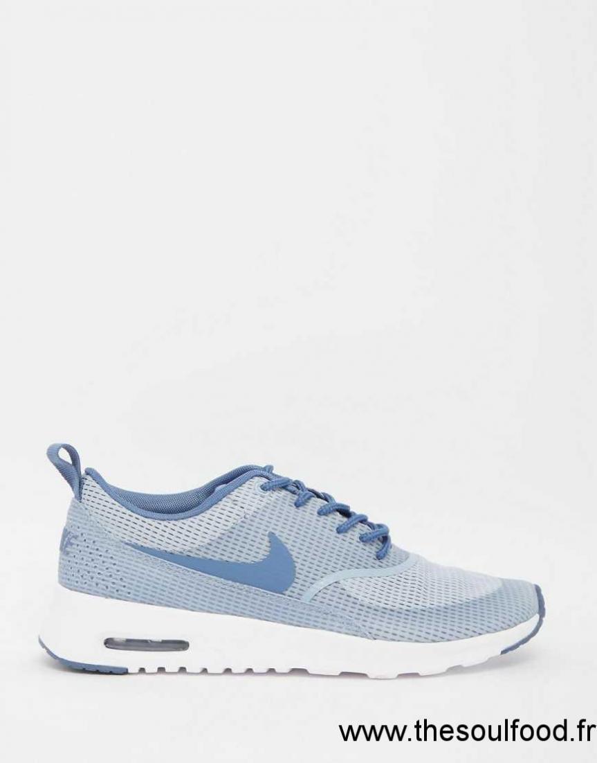 Nike Air Max Thea Baskets Texturées Bleu Et Gris Femme Bleu