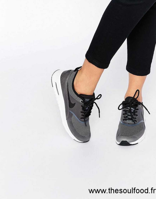 design de qualité 5ff5a d4edc Nike - Air Max Thea - Baskets Texturées - Gris Foncé Femme ...