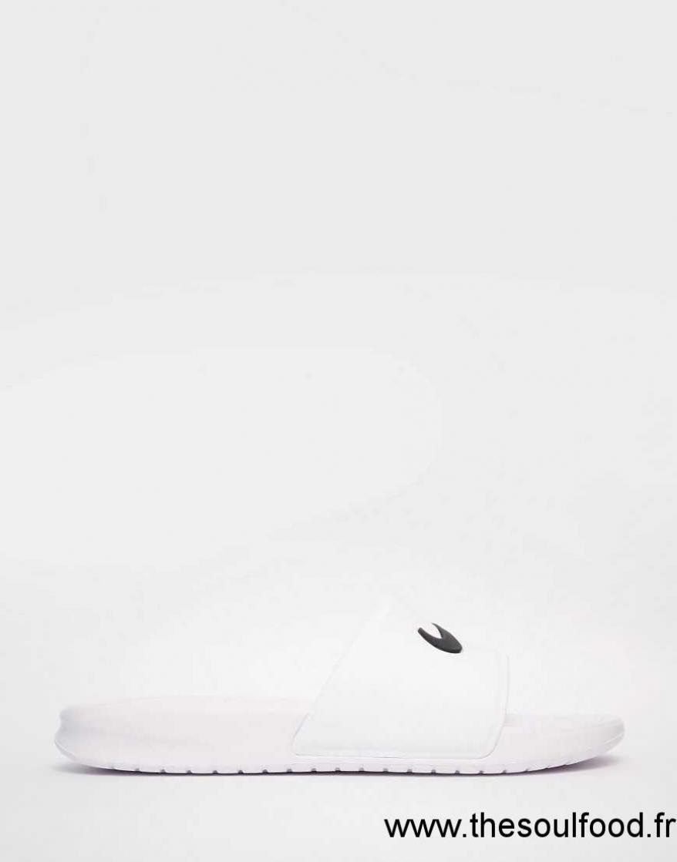 À Benassi Enfiler Piscine Lqumzvpjsg Femme Nike De Blanc Plates Sandales EDH2YI9W