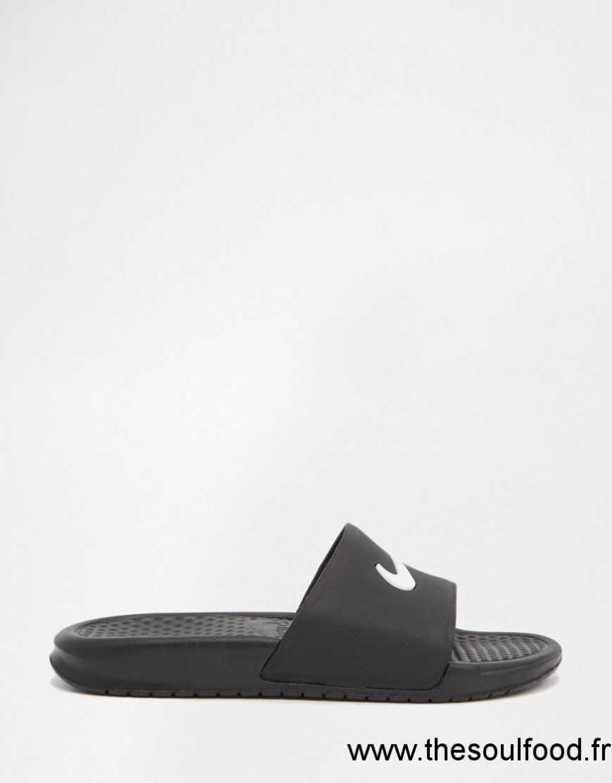Noir Sandales Femme Nike Piscine Enfiler À De Benassi Plates 5q3L4RAj