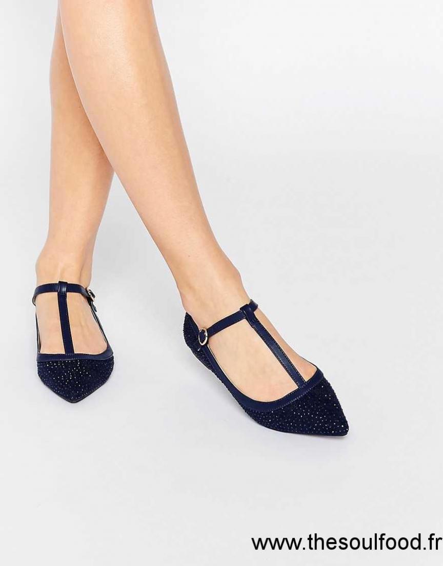 Oasis Chaussures Plates Style Salomés À Bout Pointu Effet