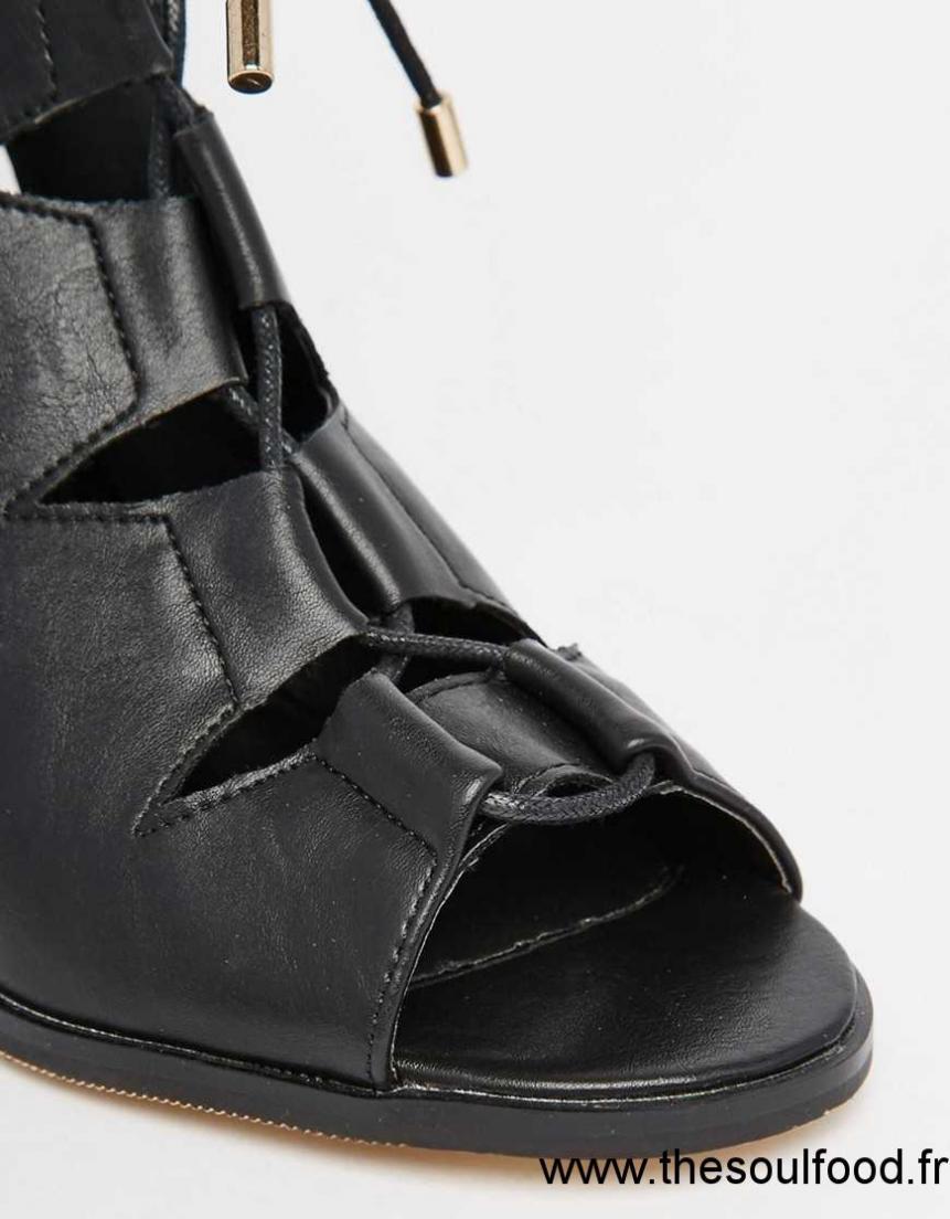 Carrés À Sandales Lacets Talons Noir Et Oasis Chaussures Femme xqBXwgCnp